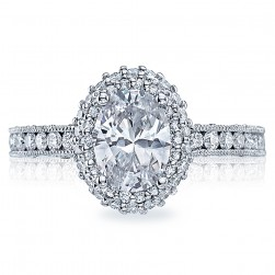 HT2523OV8X6 Tacori Crescent 18 Karat Engagement Ring