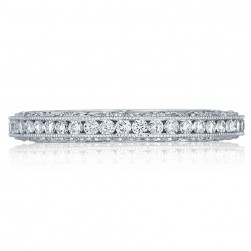 HT2550B Platinum Tacori Classic Crescent Diamond Wedding Ring