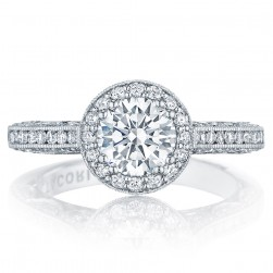 HT2550RD65 Platinum Tacori Classic Crescent Engagement Ring