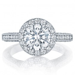 HT2550RD8 Platinum Tacori Classic Crescent Engagement Ring