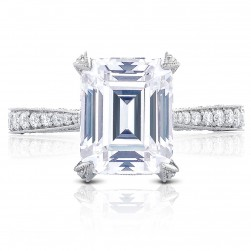 HT2626EC10X8 Platinum Tacori RoyalT Engagement Ring