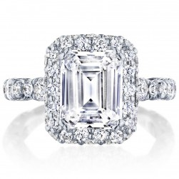 HT2653EC95X75 Platinum Tacori RoyalT Engagement Ring