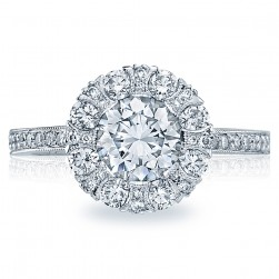 Simply Tacori 18 Karat Diamond Solitaire Engagement Ring 2642RD65