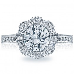 Simply Tacori 18 Karat Diamond Solitaire Engagement Ring 2643RD65