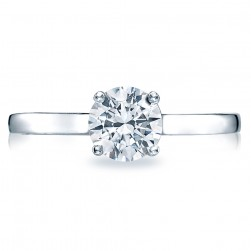 Simply Tacori Platinum Diamond Solitaire Engagement Ring 48RD6