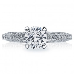 Tacori Crescent Platinum Engagement Ring 2616RD65