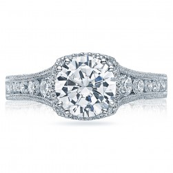 Tacori Crescent Platinum Engagement Ring HT2515RD812X