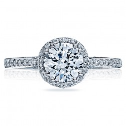 Tacori Dantela Platinum Engagement Ring 2639RDP65