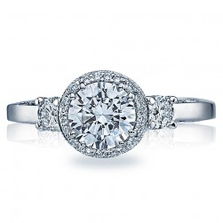 Tacori Dantela Platinum Engagement Ring 2640RD65