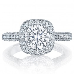 Tacori HT2550CU75 Platinum Classic Crescent Engagement Ring