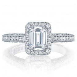 Tacori HT2550EC7X5 Platinum Classic Crescent Engagement Ring