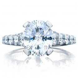 Tacori HT2623OV10X8 18 Karat RoyalT Engagement Ring