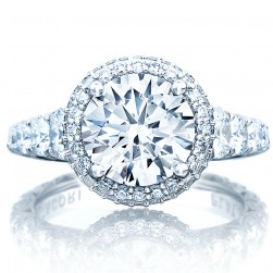 Tacori HT2624RD85 18 Karat RoyalT Engagement Ring
