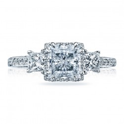 Tacori Platinum Dantela Engagement Ring 2622PRMDP