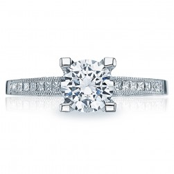 Tacori Platinum Simply Tacori Engagement Ring 2576SMRD65