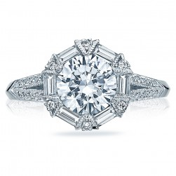 Tacori Platinum Simply Tacori Solitaire Engagement Ring 2525RD7