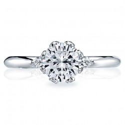 Tacori Platinum Simply Tacori Solitaire Engagement Ring 2535RD65