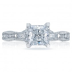 Tacori Platinum Simply Tacori Solitaire Engagement Ring 2569PR6