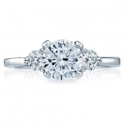 Tacori Platinum Simply Tacori Solitaire Engagement Ring 2571RD7