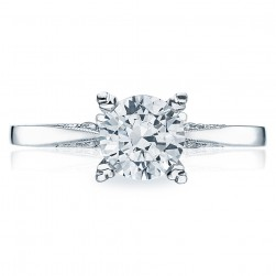 Tacori Platinum Simply Tacori Solitaire Engagement Ring 2584RD65