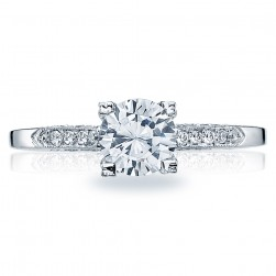 Tacori Platinum Simply Tacori Solitaire Engagement Ring 2586RD6