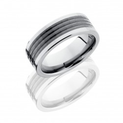 Lashbrook TCR8449 POLISH Tungsten Ceramic Wedding Ring or Band