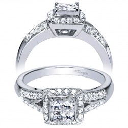 Taryn 14k White Gold Halo Engagement Ring TE4354W44JJ
