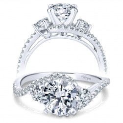 Taryn 14k White Gold Round Bypass Engagement Ring TE7457W44JJ