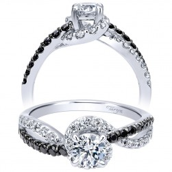 Taryn 14k White Gold Round Bypass Engagement Ring TE911938R0W44BD