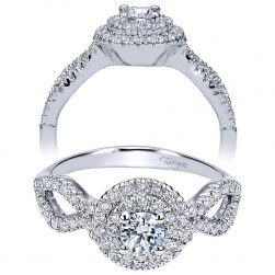 Taryn 14k White Gold Round Double Halo Engagement Ring TE911598R1W44JJ