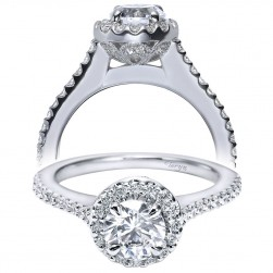 Taryn 14k White Gold Round Halo Engagement Ring TE5831W44JJ