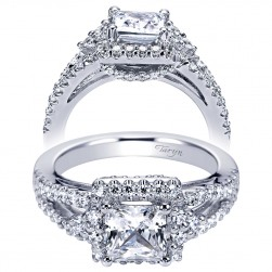 Taryn 14k White Gold Round Halo Engagement Ring TE6004W44JJ