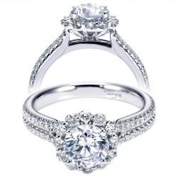 Taryn 14k White Gold Round Halo Engagement Ring TE6710W44JJ