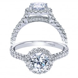 Taryn 14k White Gold Round Halo Engagement Ring TE7491W44JJ