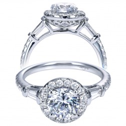 Taryn 14k White Gold Round Halo Engagement Ring TE7501W44JJ
