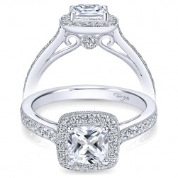 Taryn 14k White Gold Round Halo Engagement Ring TE7527W44JJ