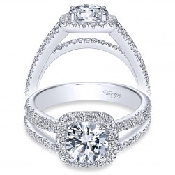 Taryn 14k White Gold Round Halo Engagement Ring TE7786W44JJ
