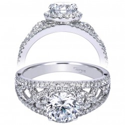 Taryn 14k White Gold Round Halo Engagement Ring TE7799W44JJ