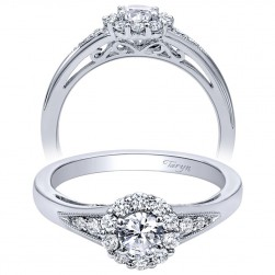 Taryn 14k White Gold Round Halo Engagement Ring TE910224W44JJ