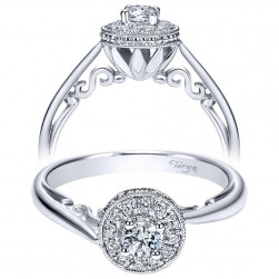 Taryn 14k White Gold Round Halo Engagement Ring TE98442W44JJ