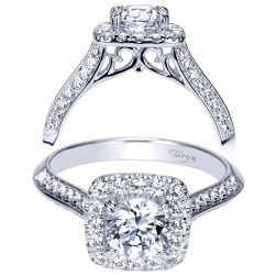 Taryn 14k White Gold Round Halo Engagement Ring TE98592W44JJ