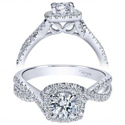 Taryn 14k White Gold Round Halo Engagement Ring TE98662W44JJ
