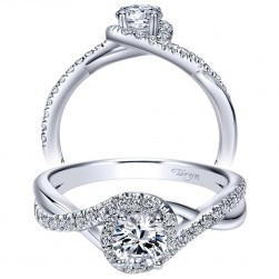 Taryn 14k White Gold Round Halo Engagement Ring TE98733W44JJ