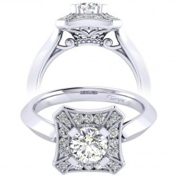 Taryn 14k White Gold Round Perfect Match Engagement Ring TE001B3AEW44JJ