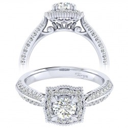 Taryn 14k White Gold Round Perfect Match Engagement Ring TE002A2AAW44JJ