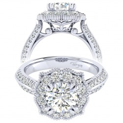 Taryn 14k White Gold Round Perfect Match Engagement Ring TE002C6ACW44JJ