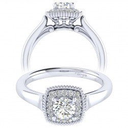 Taryn 14k White Gold Round Perfect Match Engagement Ring TE009A2ABW44JJ
