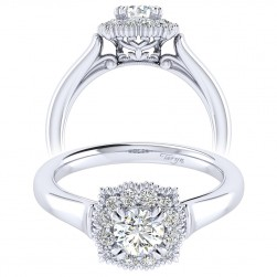 Taryn 14k White Gold Round Perfect Match Engagement Ring TE009A2ACW44JJ