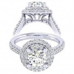 Taryn 14k White Gold Round Perfect Match Engagement Ring TE039C6AIW44JJ