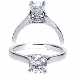 Taryn 14k White Gold Round Solitaire Engagement Ring TE7975W44JJ